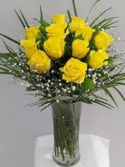 Vazoda Sarı Gül